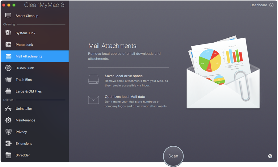 Clear mail attachments on mac