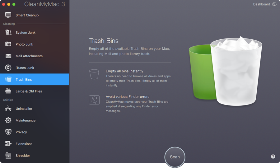 Empty Trash Bin on Mac