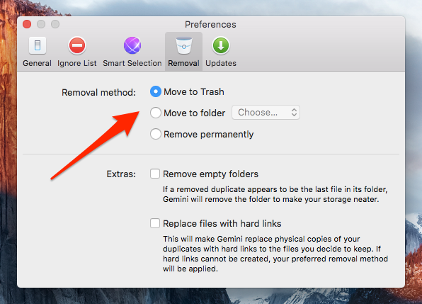 Gemini Files Removal Preferences