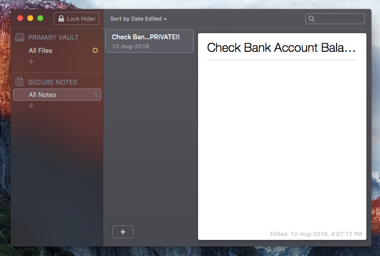 Secure Notes Hider 2