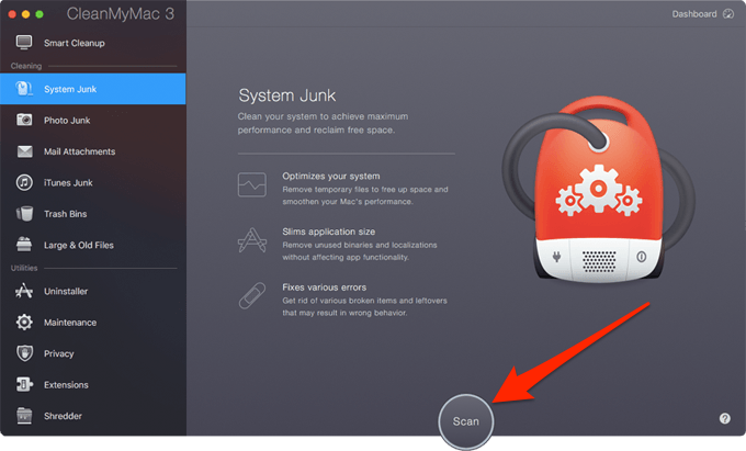 CleanMyMac System Junk
