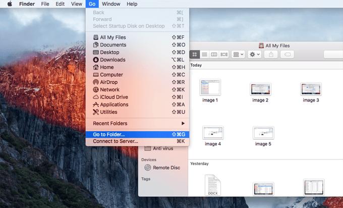 Mac go to folder